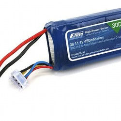 E-Flite 450mAh 3S 11.1V 30C LiPo, 18AWG: JST - EFLB4503SJ30