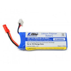 E-Flite - 800mAh 2S 7.4V 20C 20AWG JST Battery for Blade 200 QX