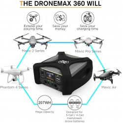Energen DroneMax 360 – Portable Drone Battery Charging Station (Phantom, Mavic, 110v)