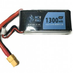 MCW Power 1,300mAh 3S 60C Battery