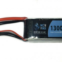 MCW Power 1,300mAh 4S 60C Battery