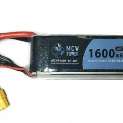 MCW Power 1,600mAh 4S 60C Battery