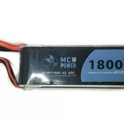 MCW Power 1,800mAh 4S 60C Battery